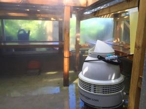 Hydrofogger humidifier.