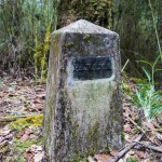 Top stone on the Continental Divide - Panama side