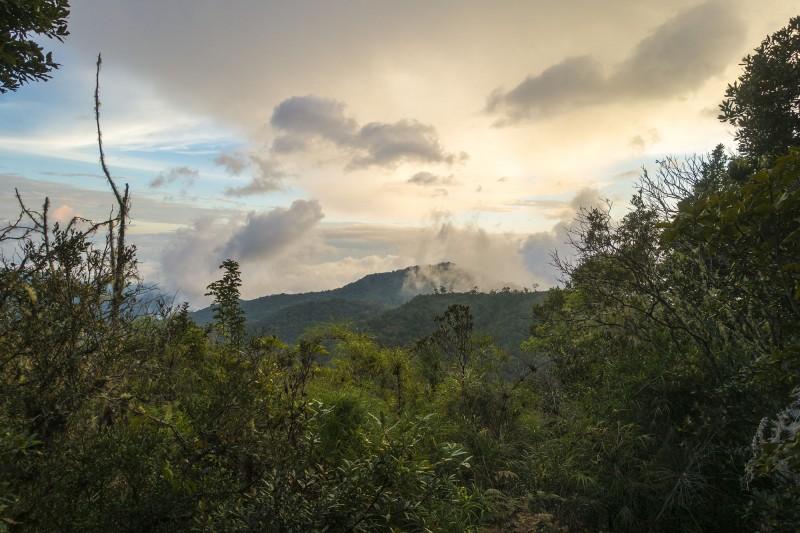 Echandi, Costa Rica, sunset at camp 2