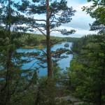 View over Svartedalen lakes