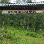Kungsleden trail head in Hemavan.