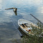 Row boat landing