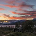 Magical sunset in Saltoluokta