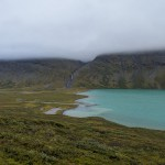 Blue glacial lake Àlàvjàvrre