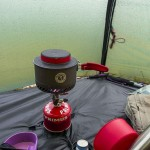 Cooking in the tent