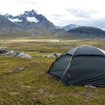 Campsite at the Saddle between Gähppo and Vuovres peaks