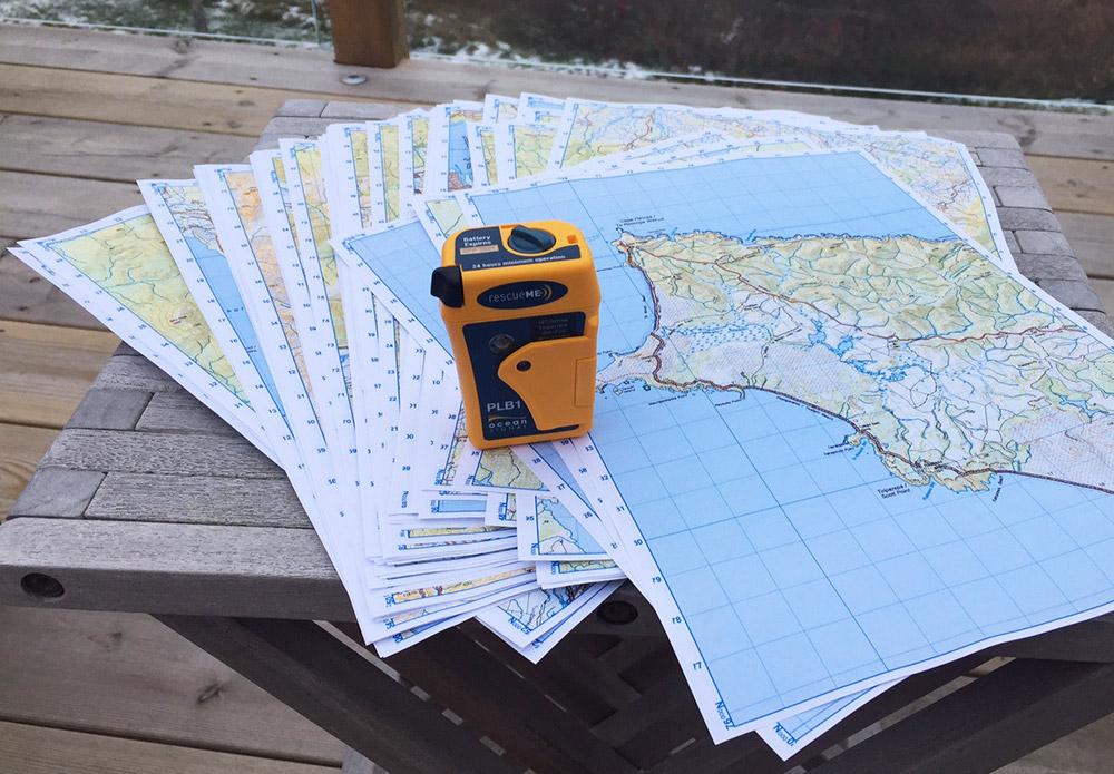 Te Araroa maps and my new PLB